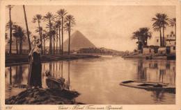 ¤¤  -   EGYPTE    -  LE CAIRE   -  Flood Fine Near Pyramids   -   Oblitération   -  ¤¤ - Cairo