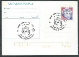 1987 ITALIA CARTOLINA POSTALE CASTELLO DI MONSELICE ANNULLO FDC - DE - 6. 1946-.. Repubblica