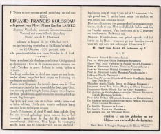 DP Eduard Francis ROUSSEAU - Lainez - Izegem - St.-Eloois-Winkel - Postbode - 1871 / 1951 - Religione & Esoterismo