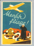 "MOTIV Reklame Werbekarte Flug ""Mensch Fliege"" Augsburg 1936-08-11 - Publicité"