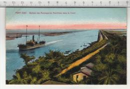 Port-Saïd - Bateau Des Messageries Maritimes Dans Le Canal - Port-Saïd