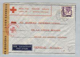 MOTIV Rot.Kreuz 1941-06-01 Brief Niederl. Indien>CH 35C EF - Indonésie