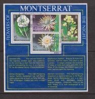 Montserrat 1977 Night Flower Miniature Sheet FU - Montserrat