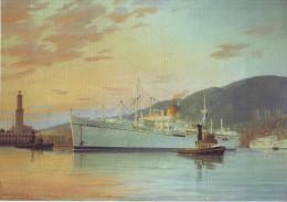 Paquebot De Croisière Anna Croisière Costa 1948 - Maritime Decoration