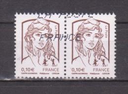 FRANCE / 2013 / Y&T N° 4764 : Ciappa 0.05 € (de Feuille Gommée) X 2 En Paire - Usuels - France