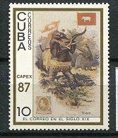 (cl 10 - P21) Cuba  ** N° 2781 (ref. Michel Au Dos) - Tableau : éléphant - - Unused Stamps