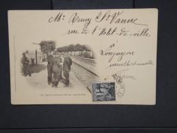 FRANCE-Guerre De 14/18 Officiers Sur La Voie Férrée     Cp   Voyagée  1900   Lot P 5952 - Personnages