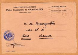 Enveloppe Brief Cover Ministère De La Justice Police Communale De Grand-Leez Gembloux - Belgique