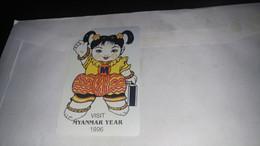 Myanmar-vist Myanmsryear(1996)-(100 Urmet Patent)-used Card+1card Prepiad Free - Myanmar