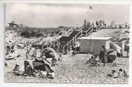 33 - LACANAU-OCÉAN - ARRIVÉE À LA PLAGE LES ESCALIERS- CPSM DENTELÉE N & B  1959 - VERSO - Other Municipalities