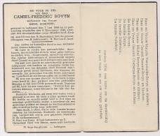 DP Camiel Frederic BOVYN - Debevere - Ledegem - 1866 / 1945 - Religion & Esotérisme