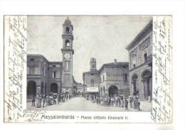 Massa Lombarda, Piazza Vittorio Emanuele II°, Animata - F.p. - Anni ´1900 - Ravenna