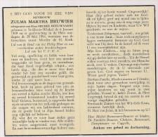 DP Zulma Martha BRUWIER - Beeuwsaert - St.-Eloois-Winkel - 1909 / 1954 - Religion & Esotérisme