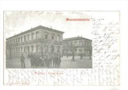 Massa Lombarda, Scuole Comunali,  Animata - F.p. - Anni ´1900 - Ravenna