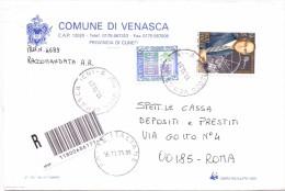 COMUNE DI VENASCA - 12020 CUNEO - 2001 - R - FTO 12X18 - TEMA TOPIC COMUNI D´ITALIA - STORIA POSTALE - Affrancature Meccaniche Rosse (EMA)