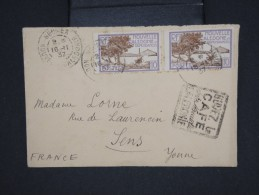 FRANCE-NOUVELLE CALEDONIE-Enveloppe  De Nouméa Pour Sens  En 1937   Obl. Sur Le Café  à Voir     P5955 - Briefe U. Dokumente