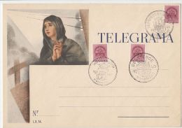 2226FM- TELEGRAMME COVER, WOMAN, ROYAL CROWN STAMP, TRANSYLVANIAN TOWNS RETURNED ROUND STAMPS, 1940, HUNGARY - Télégraphes