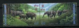 (cl 10 - P24) Thaïlande ** N° 1630/1631 Se Tenant (ref. Michel Au Dos) - Eléphants - - Thailand