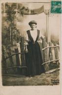 CHAMPIGNÉ - Belle Carte Photo Portrait Jeune Femme élégante Réalisé Par Photo. L.J. à CHAMPIGNÉ - Other Municipalities
