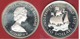 BAHAMAS 10 DOLLARS INDEPENDENCE 1973 - Bahamas
