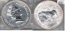 AUSTRALIA 5 DOLLARS 1990 KOOKABURRA PLATA SILVER - Australia