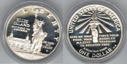 EE.UU USA DOLLAR 1986 ELLIS ISLAND PLATA SILVER - Estados Unidos