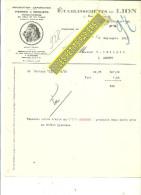 95 - Val-d'oise - PONTOISE - Facture Ets Du LION - Pierres à Briquets – 1931 - REF 191 - France