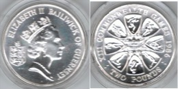 GUERNSEY 2 POUNDS 1986 COMMONWEALTH GAMES - Guernsey