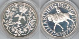R.U. INGLATERRA 5 POUNDS 1977 PLATA SILVER - Maundy Sets  & Conmemorativas