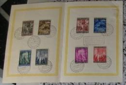 VATICANO - 1950 - Anno Santo Sass. 132/39 Serie Cpl. 8v. Su Folder Del Vaticano RARE - Covers & Documents