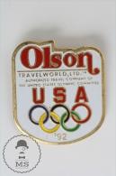 Olympic Games Barcelona 1992 - Olson Travel World Company Advertising  - Pin Badges #PLS - Juegos Olímpicos