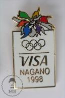 Nagano 1998 Olympic Games - VISA Advertising - Enamel Pin Badges #PLS - Juegos Olímpicos