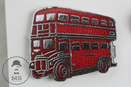 London Bus - Red Colour Enamel Pin Badges #PLS - Transportes