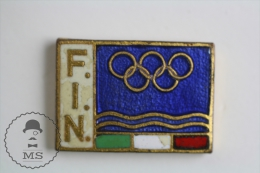 Federazione Italiana Nuoto/ Italian Swimming Federation - Olympic Games Pin Badges #PLS - Juegos Olímpicos