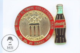 III World Olympic Collectors Fair - Olympic Museum Lausamme 1997  - Pin Badge #PLS - Coca-Cola