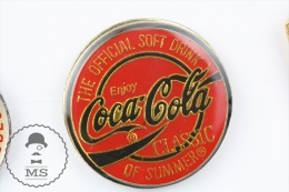 Coca Cola Classic Of Summer - The Official Soft Drink - Advertising Pin Badge #PLS - Coca-Cola