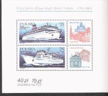 Polen Block 99 Ostsee Schifffahrt ** Postfrisch MNH Neuf - Blocks & Sheetlets & Panes