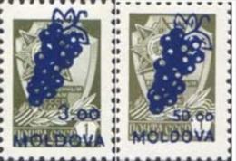Moldova Moldawien 1994 MNH ** Mi. Nr. 98+100 II Rare Overprint Value On The Right Side - Moldavië