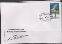 RO) 2015 CUBA-CARIBE, DANCE - BALLET, ANNA PAVLOVA, FDC XF - FDC