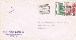 13167. Carta Certificada SEVILLA 1977. Estafeta Circular Urbana - 1931-Aujourd'hui: II. République - ....Juan Carlos I