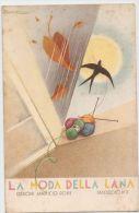 BUSI - ADVERTISING POSTCARD 1920s - LA MODA DELLA LANA - LANIFICIO ROSSI - Busi, Adolfo