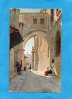 PALESTINE-Eccehomo-bogen-JERUSALEM Années 1900-10-éditions Gesellschaft - Palestine