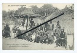 CPA - Congo Français-Mission Catholique De Brazzaville - Banziris Devant Leurs Cases (Haut Oubanghi) - Congo Français - Autres