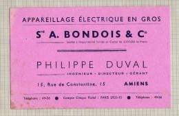 BUVARD : Appareillage Electrique En Gros A BONDOIS AMIENS - Electricité & Gaz