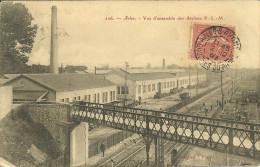 13 ARLES ATELIERS PLM GARE TRAIN CHEMIN DE FER BOUCHES DU RHONE - Arles