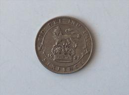 UK GRANDE BRETAGNE SIX 6 PENCE 1921 ARGENT SILVER - 1902-1971 : Monnaies Post-Victoriennes
