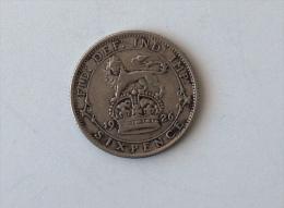 UK GRANDE BRETAGNE SIX 6 PENCE 1926 ARGENT SILVER - 1902-1971 : Monnaies Post-Victoriennes