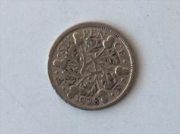 UK GRANDE BRETAGNE SIX 6 PENCE 1928 ARGENT SILVER - 1902-1971 : Monnaies Post-Victoriennes