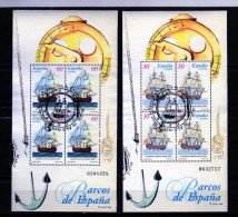 F 345   España 1996   2 HB Nº 3415-3416 , Barcos , Navio,  época, Vela, - Barcos