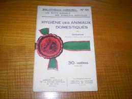 Vermorel : Hygiène Des Animaux Domestiques Par Garapon : étable,bergerie,écurie,porcherie.... - Garden